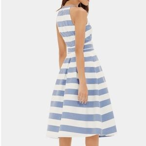 The Limited Blue and White Stripe Pleated Dress 0